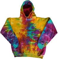 Men's tie dye sweatshirt hoodie cool funky colorful tye dyed shirt rainbow color