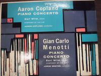 Aaron Copland & Gian Carlo Menotti Piano Concertos 33RPM 012716 TLJ