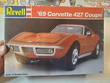 REVELL 7149 '69 CORVETTE 427 COUPE 1/25 SCALE Model Kit - 1989