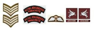 1/6 scale WW2 British Royal Engineers Airborne Patch lot