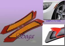 For 2009 2011 Bmw E90 E91 Lci Sedan Amber Side Marker Lamps Bumper Reflector 2pc