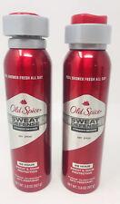 2 Old Spice Sweat Defense Stringer Swagger Dry Spray Antiperspirant 3.8 oz 48 Hr