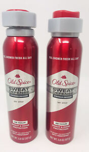 2 Old Spice Sweat Defense Stringer Swagger Dry Spray Antiperspirant 3.8 oz 48 Hr