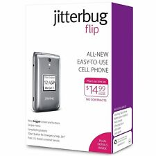 GREY Jitterbug Flip Easy-to-Use Cell Phone for Seniors GreatCall in Original Box