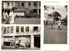 POSTCARD SIZE PHOTOS SINGAPORE TRANSPORT TROLLEY BUS ETC VINTAGE 1938