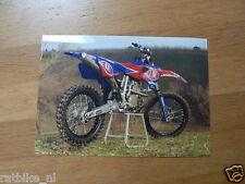 F089-MX500 YAMAHA YZ 500FM GRAND PRIX MACHINE SEASON 2001 PHOTO MOTOCROSS