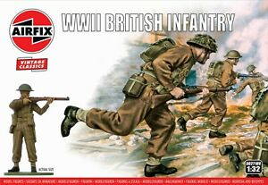 Airfix Vintage Classic 1/32 WWII British Infantry # A02718V