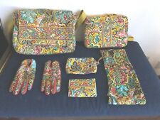 Vera Bradley Bag Wallet Scarf Gloves Notebook Cosmetic Bag  Set Bundle 6 pieces