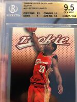 Lebron James Rookie Silver Card 2003 Upper Deck MVP Beckett BGS 9.5 Gem Mint SP