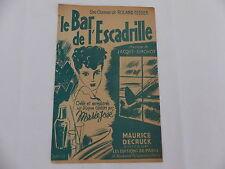 Partition Le bar de l escadrille MARIE JOSE ROLAND TESSIER  JACQUES SIMONOT