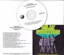BILLY PRESTON That's The Way God Planned It 2010 UK Apple 16-track promo test CD