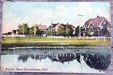 c. 1916 CHARLOTTETOWN, PEI, CANADA, BRIGHTON ROAD WATERFRONT HOUSES POSTCARD PPC