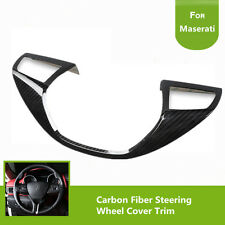 Carbon Fiber Steering Wheel Cover Trim For Maserati Levante 16-17 Ghibli 14-16