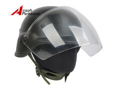 Airsoft M88 PASGT Kelver Swat Helmet with Clear Visor Paintball Wargame Black
