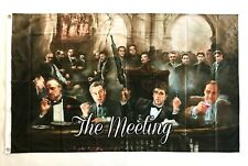 The Meeting 3ftx5ft flag banner mafia Scarface Godfather Good Fellas limited new