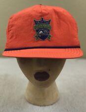 True Seattle Seahawks Vtg Orange Hat Ball Cap NFL 12th Man Hawks Adjustable A48