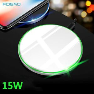 30W Metal Qi Wireless Charger Fast Charging Mat Pad For iPhone 12 Pro Max XS XR