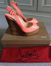 "Christian Louboutin Women's Very High Heel (greater than 4.5"") Peep Toes Shoes"