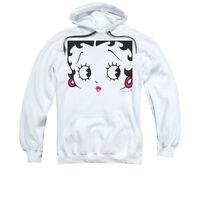 BETTY BOOP CLOSE UP Licensed Adult Pullover Hooded Sweatshirt Hoodie SM-3XL