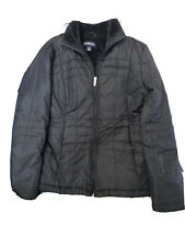 Lands End Women's Quilted Jacket size Small 6-8 Small Black lined side pockets