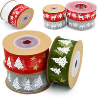 5M 10M 20M Organza Glitter Christmas Ribbon Tree Card Xmas Decor 【Add 4 Free 1】