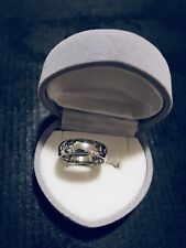 HERMES HERCULES H BAND RING 18K WHITE GOLD: Auth, US5.25 EU50, 5mm Wide, Preown