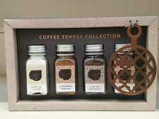 Coffee Chocolate Sprinkles & Powder Topper Collection Of 4 Flavoured Gift Set