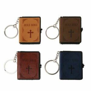 Holy Bible Miniature Keyring - Choice of Colours