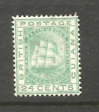 BRITISH GUIANA 1876-79  24c  SHIP   MH     SG 132