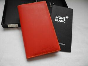 Montblanc Leather Goods Diaries & Notes Leder Etui Rot Adress Buch Kalender 4 CC