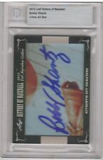 2012 Leaf History of Baseball Cut Signature Edition - Bobby Shantz Autograph