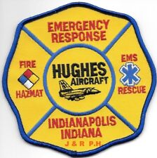 "Hughes Aircraft  Emergency Response / HAZMAT, IN (4.5"" x 4.5"" size)  fire patch"