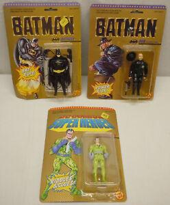 Vintage Toy Biz Keaton Batman Bob The Goon Riddler Figures MOC 1989