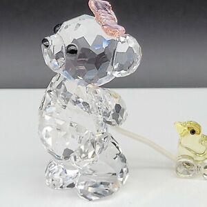 """Swarovski- Kris Bear """"It's A Girl"""" pulling Baby Duck, #949710."""