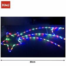 Stella Cometa Con Led Luce Multicolore 80cm Decorazione Natale hmj