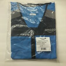 Amazon Flex Mens Xl Reflective Vest Delivery Driver/Employee Blue Luly Yang