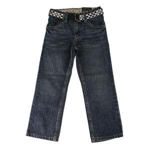 Tony Hawk Boys Straight Denim Pants with Belt - Medium Indigo, Size 5