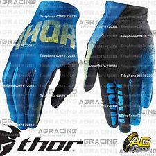 Thor 2016 vacío Guantes Curva Azul Amarillo Adulto Grande Tamaño 10 Motocross Enduro Atv