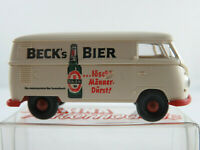 "Brekina VW-Kastenwagen T1b (1959) ""Beck´s Bier"" in creme 1:87/H0 NEU/OVP"