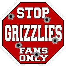 NBA Basketball Memphis Grizzlies Metal Stop Sign Man Cave Garage Barn Shop BS256
