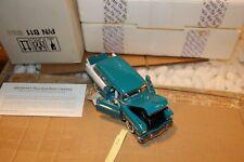 S6 Franklin Mint 1956 Chevrolet Nomad 1:24 Green & White COA B11WC88