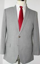 J. Crew Thompson Gray Side Vented Two Button Wool Suit 38 S Slim 36 28 Flat