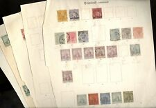 TRINIDAD & TOBAGO, Excellent assortment of Classic  Stamps hinged on remainder