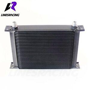 28 Row 10AN Universal Engine Transmission 248mm Oil Cooler Kit Black FITS Mit...