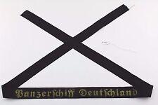 """Mützenband """" Panzerschiff Deutschland """" Kriegsmarine WK WW Cap Tally Original"""