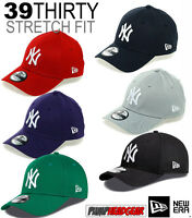 New Era 3930 League Basic NY Yankees Stretch Fit Baseball Cap