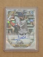 2018 Bowman Chrome Refractor Amed Rosario True RC AUTO /150 Rookie