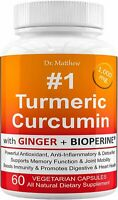 Turmeric Curcumin with BioPerine Black Pepper and Ginger. 15X High Potency