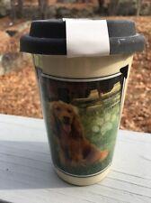 Cocker Spaniel ceramic travel mug with lid New