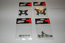 Losi TLR SCTE Machined Aluminum Front Rear Chassis Brace Shock Tower Carbon Fibe